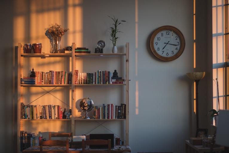 clock on the wall of a cozy home