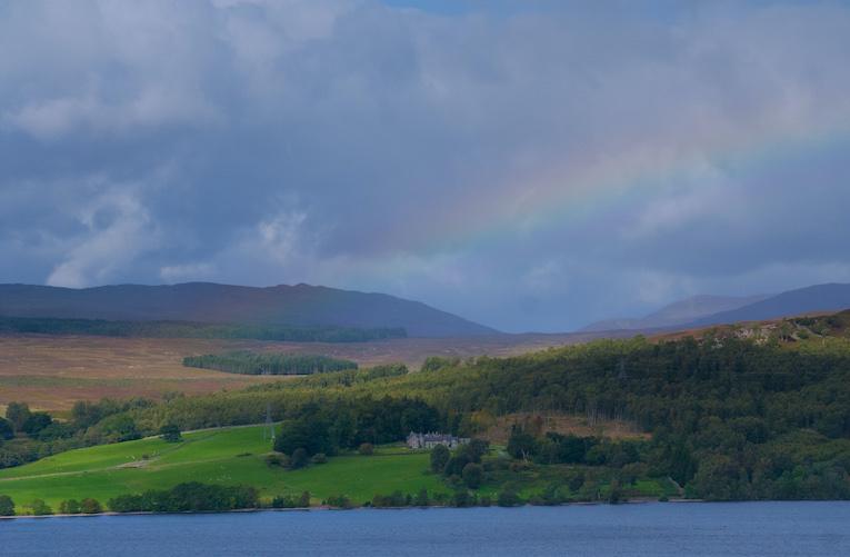 Rainbow over loch Rannoch